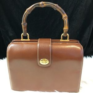 Gucci Vintage doctor bag with bamboo handle